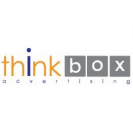 Think Box Advertising Logo Vector