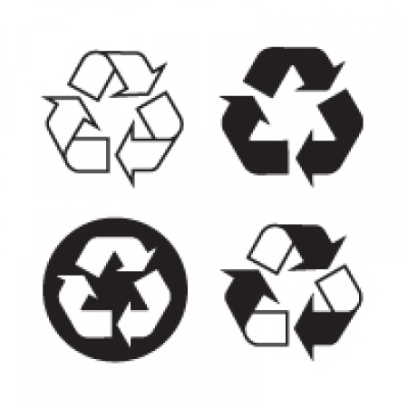 Recyclable Recycling Logo Vector