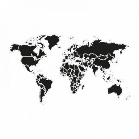 World Logo Vector Black Logo Vector