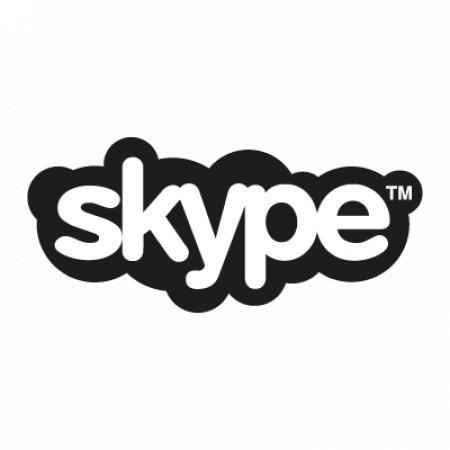Skype Black Logo Vector