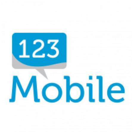 123 Mobile Logo Vector