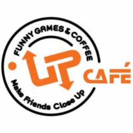 Up Cafe Logo Vector