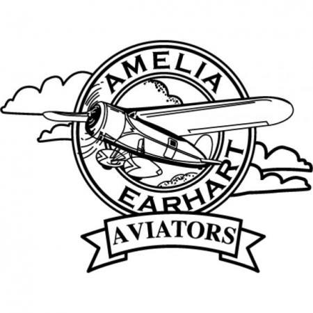 Amelia Earhart Aviators Logo Vector