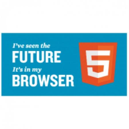 Html5 Sticker With Tagline Logo Vector