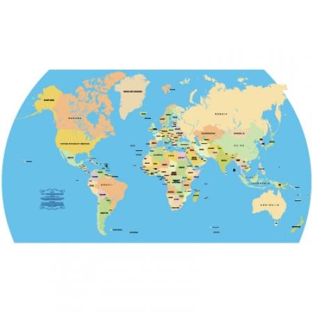 Accurate Vector World Map Logo Vector