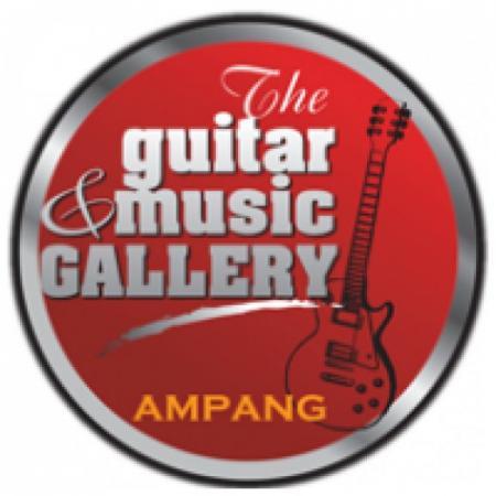 The Guitar & Music Gallery Logo Vector