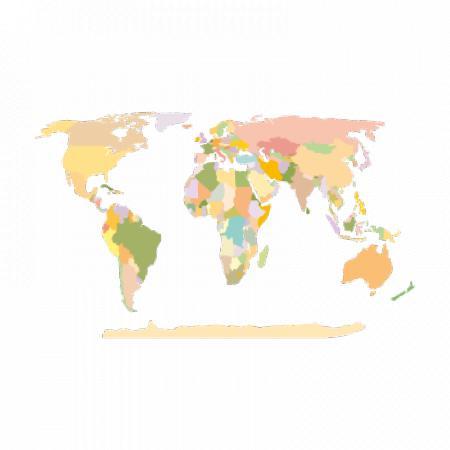World Map Earth Logo Vector