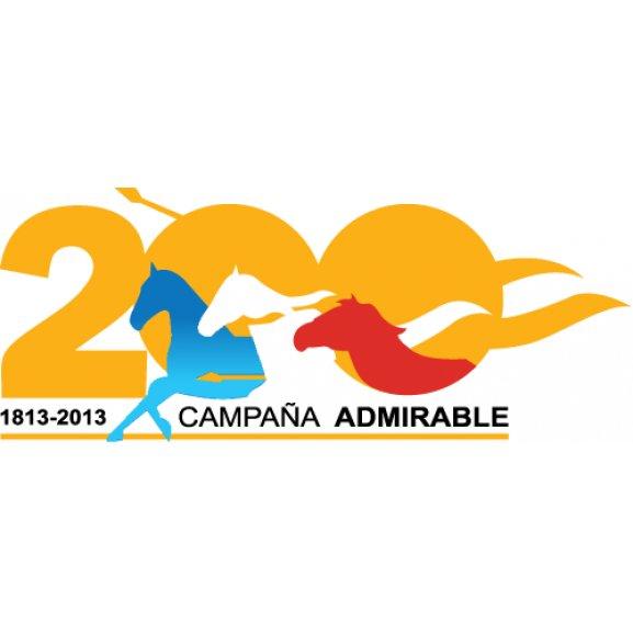 200 Aos Campaa Admirable Logo Vector