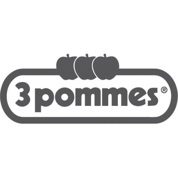 3 Pommes Logo Vector