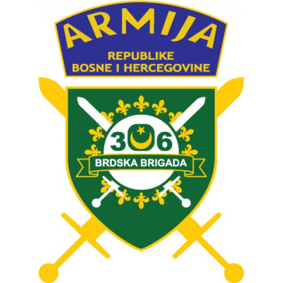 306 Brdska Brigada Armija Bih Logo Vector