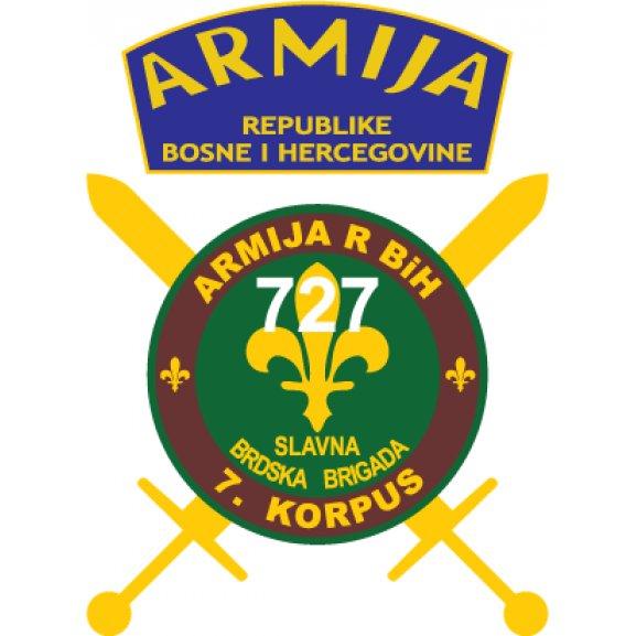 727 Slavna Brdska Brigada Armija Bih Logo Vector