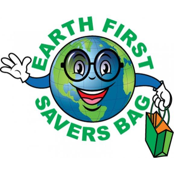 Earth First Savers Bag Logo Vector