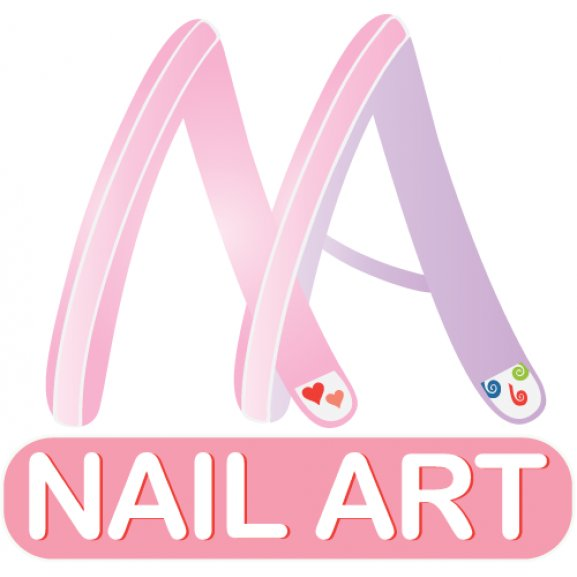 Nail Art Logo Vector