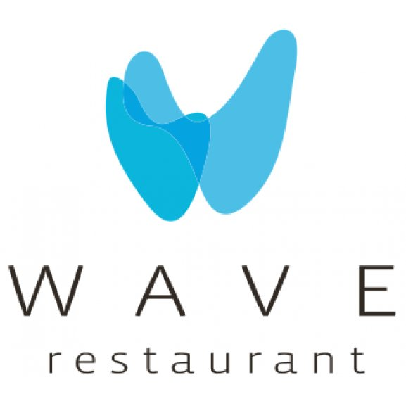 Wave Restaurant Logo Vector