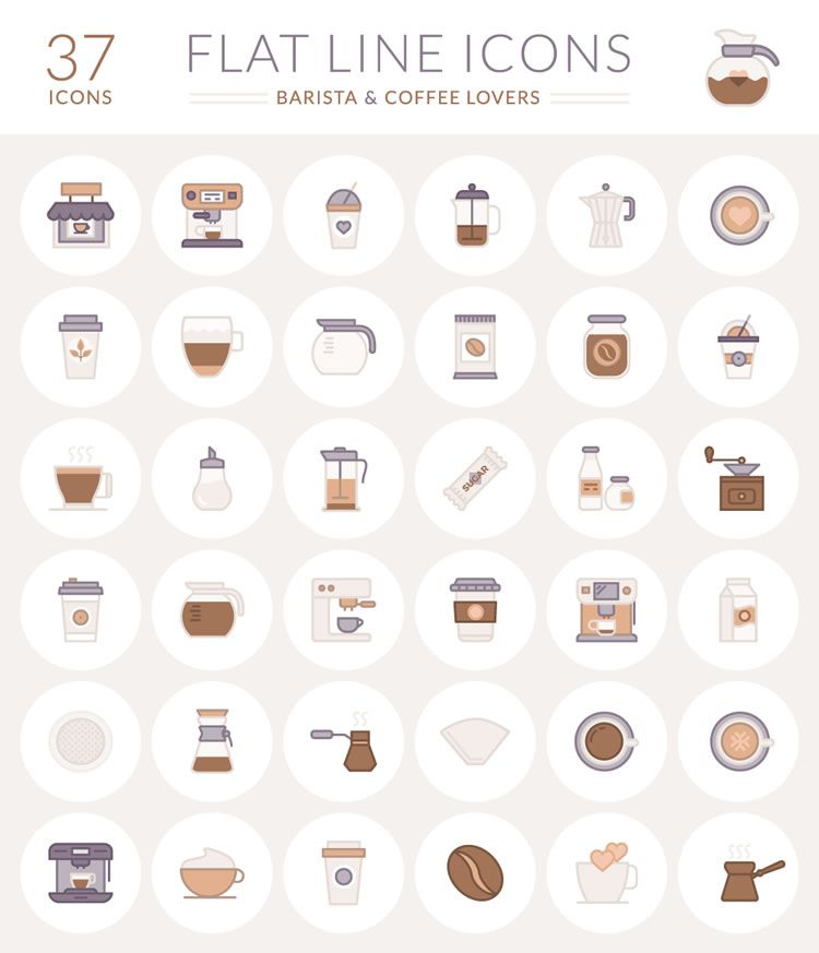 Free Coffee Flat Icon Logo Vector
