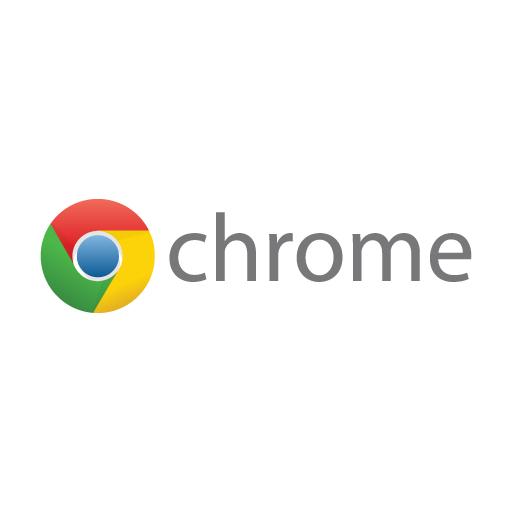 Google Chrome Wordmark Logo Vector