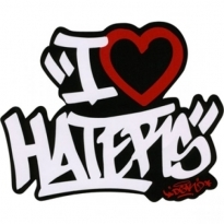 I Love Haters Logo Vector Download