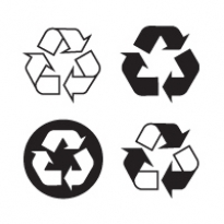 Recyclable Recycling Logo Vector Download
