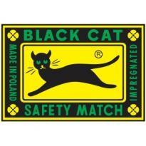 Black Cat Safety Match Logo Vector Download