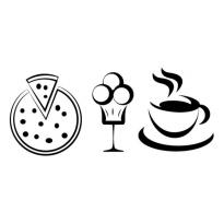 Coffee Pizza Ice Cream Logo Vector Download