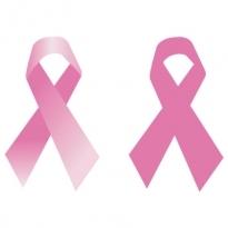 breast cancer ribbon logo vector