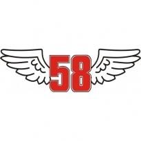 58 Wings Logo Vector Download