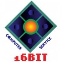16 Bit Computer Service Logo Vector Download
