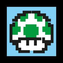 1up Mushroom Logo Vector Download