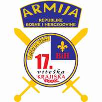 17 viteka krajika brigada armija bih logo vector