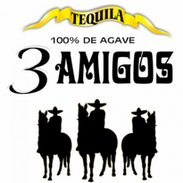 3 Amigos Tequila Logo Vector Download