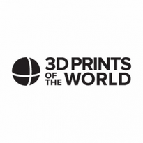 3d prints of the world logo vector
