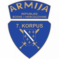 7 korpus armije bih logo vector