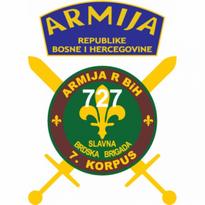 727 Slavna Brdska Brigada Armija Bih Logo Vector Download