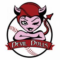 Ben Luna Montclair Fast Pitch League Devil Dolls Logo Vector Download