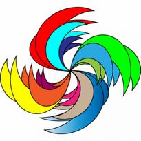 Colors Star Logo Vector Download