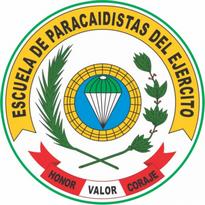escuela de paracaidista del peru logo vector