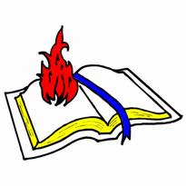 Flaming Bible Logo Vector Download