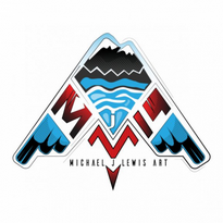 michael jlewis art llc logo vector