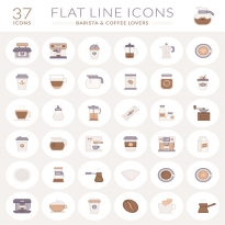 Free Coffee Flat Icon Logo Vector Download